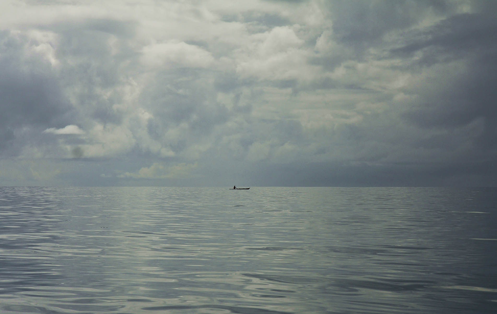 einsam in die regenfront