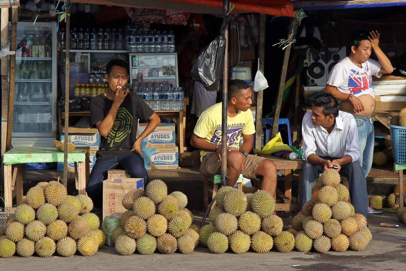es ist gerade duriansaison