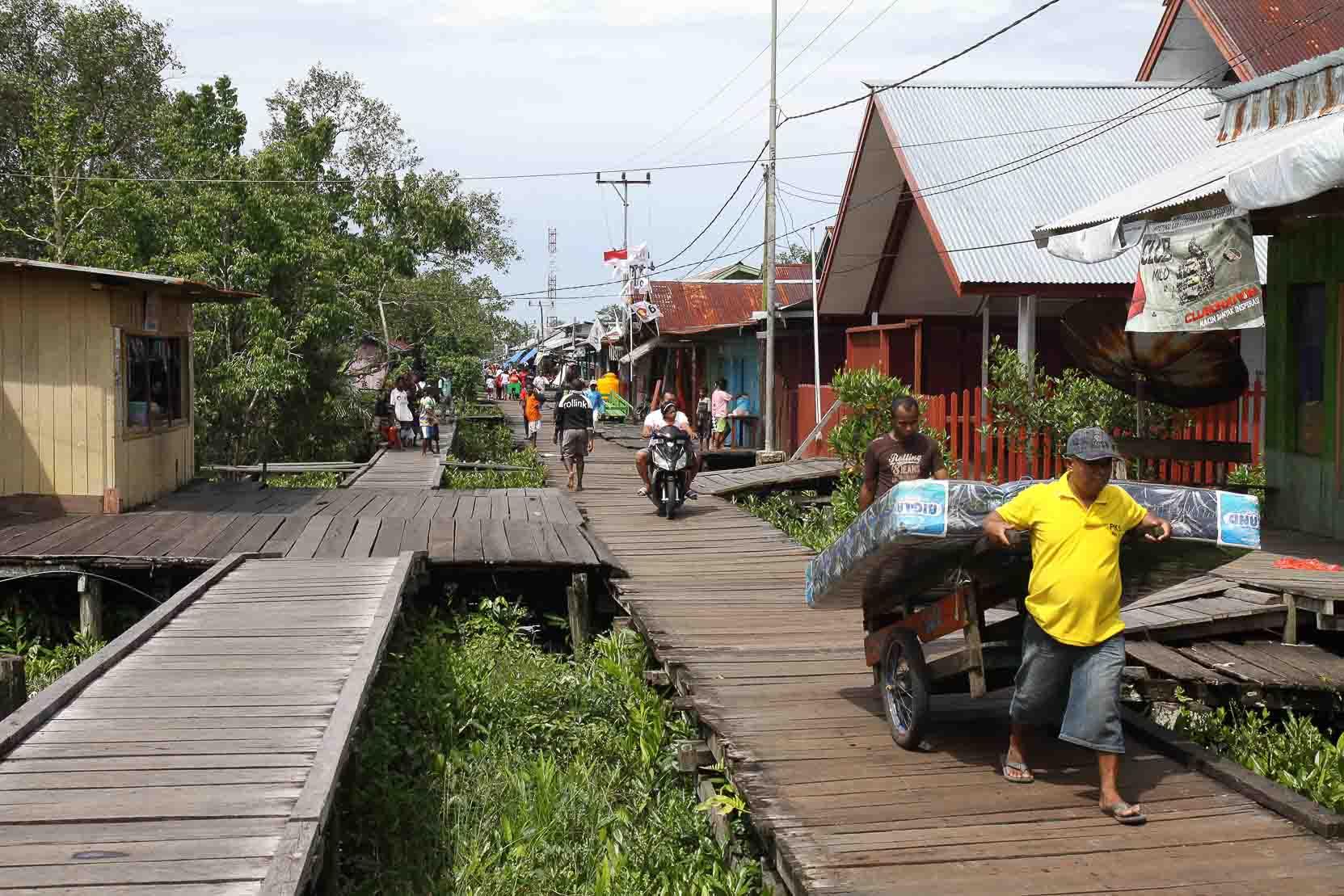 Straßen in Agats