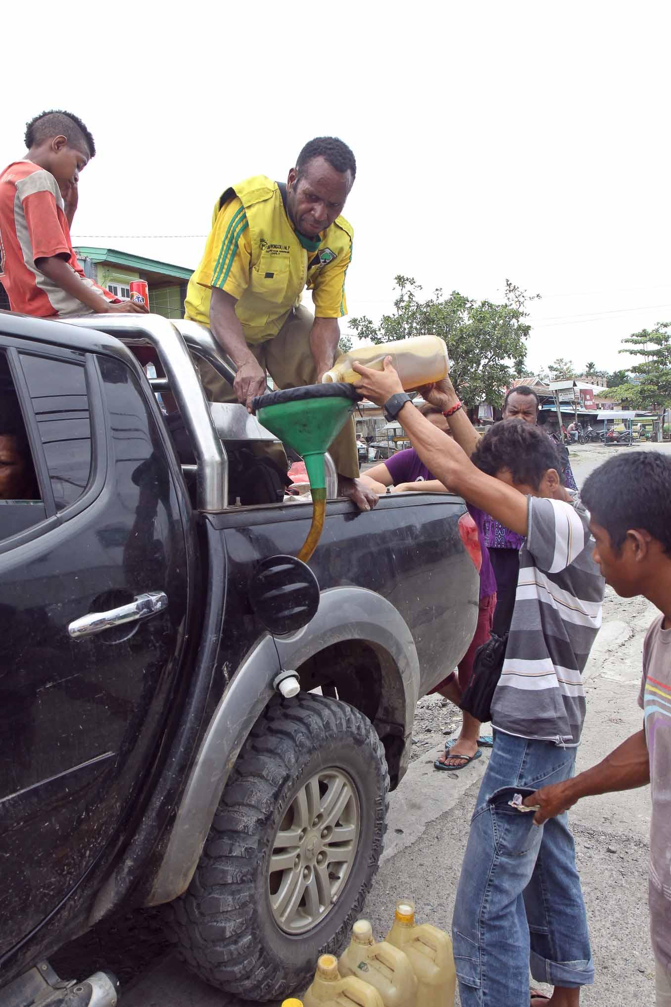 Tankstelle in papua