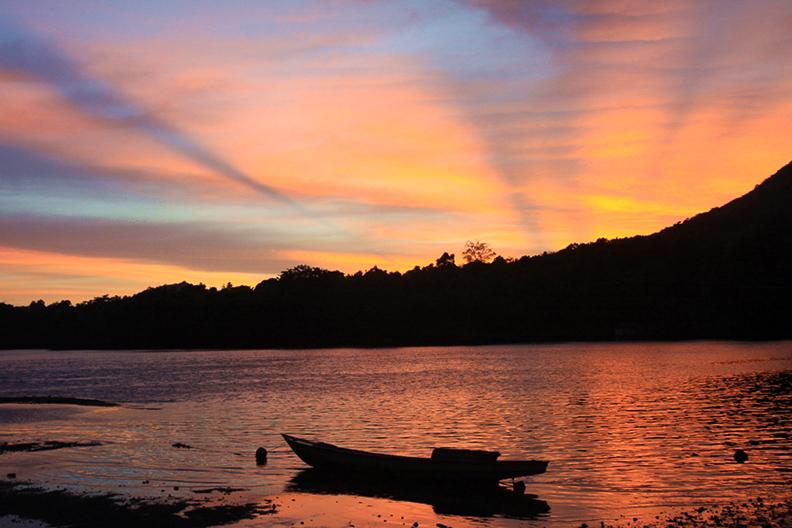 Sunset auf den Bandas