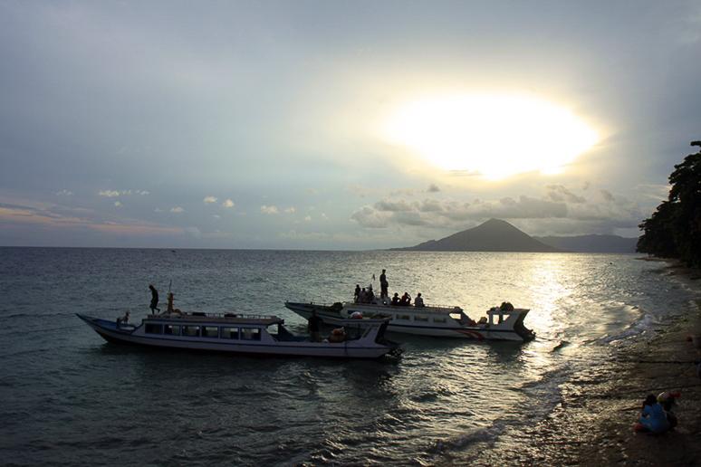 Abschied von Pulau Ay am Morgen