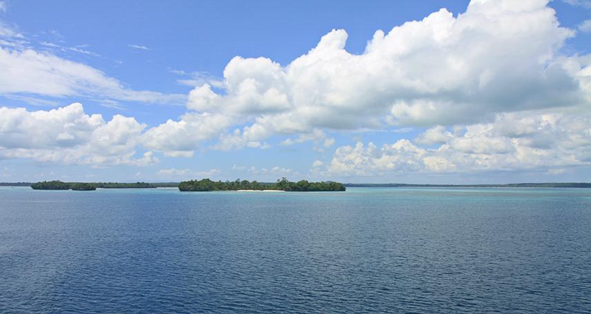 Key-islands aus der Ferne
