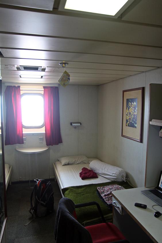 Meine erste Kabine auf Pelniboot