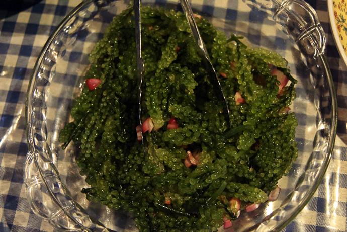 Seegras auf dem Teller