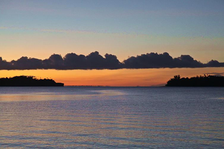 sunset auf key besar