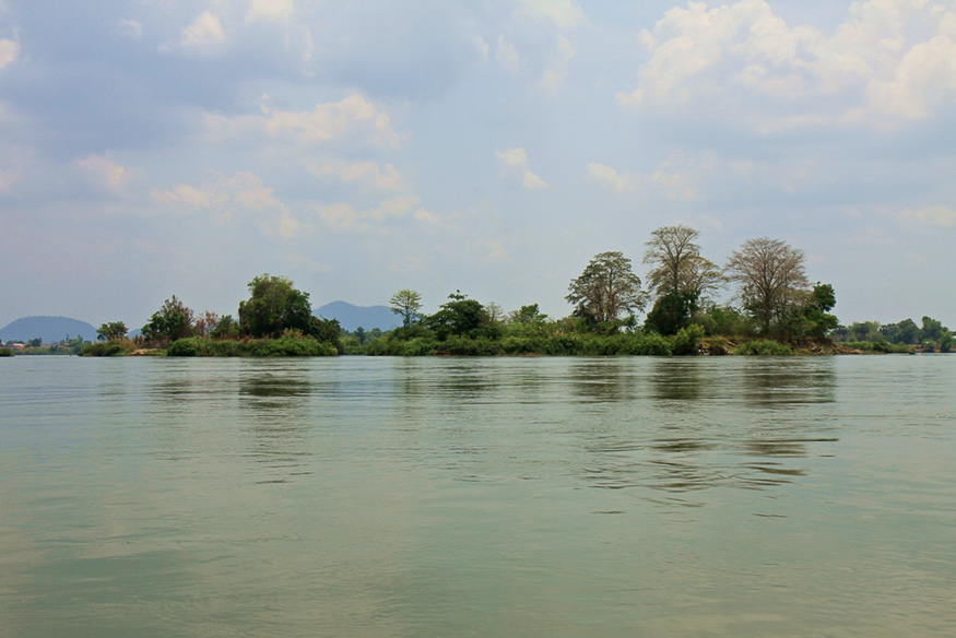 Überall Inseln im Mekong