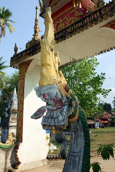 Eingang zum Tempel auf Don Khon