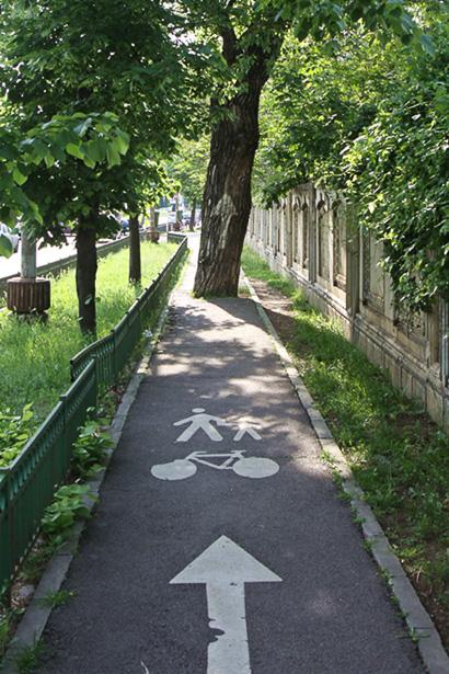 Radweg in Bukarest