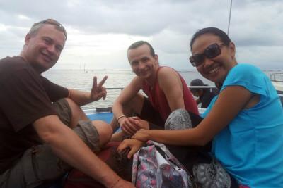 Mit Ingo+Lina auf dem Weg nach Pulau Penida