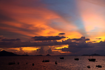 Sunset vor Labuan Bajo