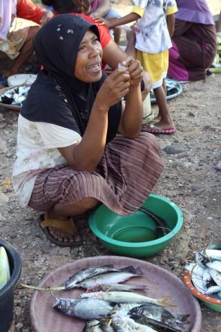 Fischverkäuferin in Baranusa