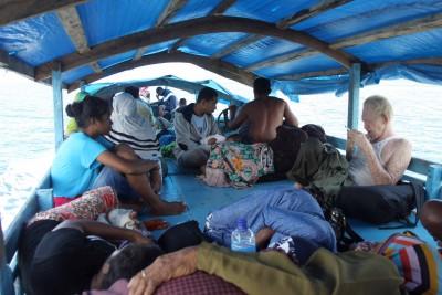 Mein Boot nach Baranusa auf Pantar-Island