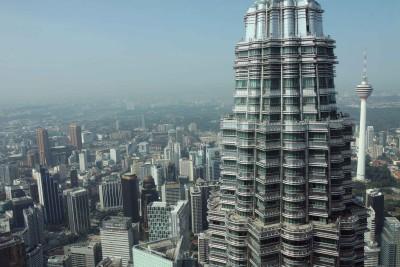Blick von PetronasTower auf Kuala Lumpur