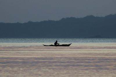 Fischer vor Tambaron-Island