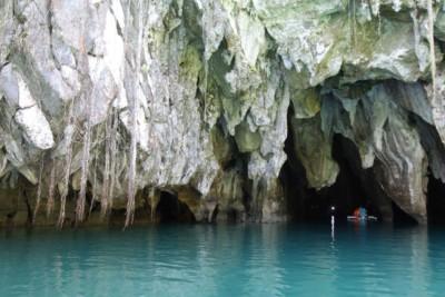 Eingang zum Underground River