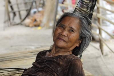 Mutter meiner Gastgeberin auf Pamilacan