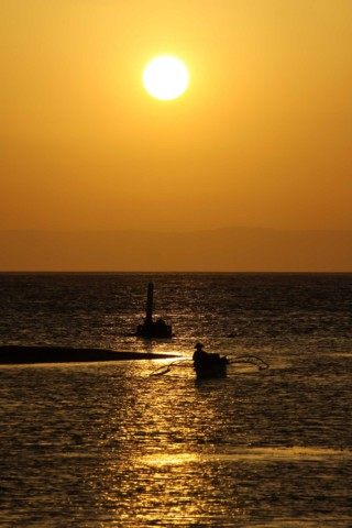 Sonnenuntergang auf Pamilacan-Island