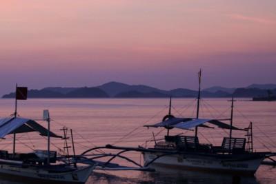 Sunset in Port Barton